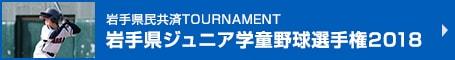 岩手県民共済TOURNAMENT 岩手県ジュニア学童野球選手権2018